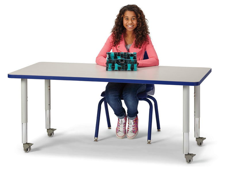 "Berries® Rectangle Activity Table - 30"" X 60"", Mobile"
