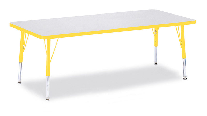"Berries® Rectangle Activity Table - 30"" X 72"", T-height"