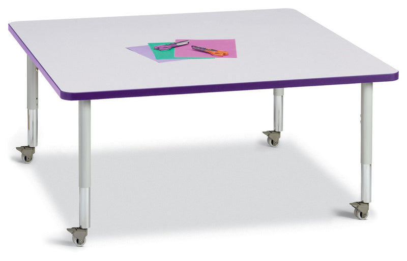 "Berries® Square Activity Table - 48"" X 48"", Mobile"