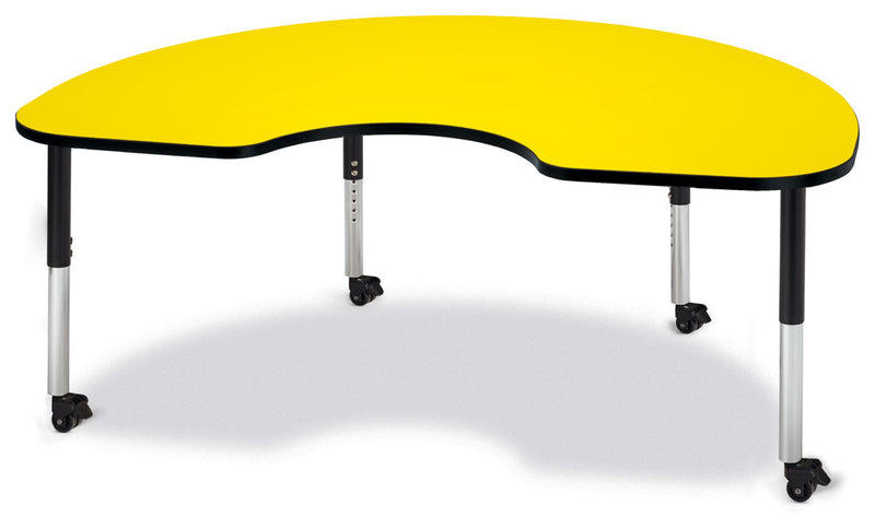 "Berries® Kidney Activity Table - 48"" X 72"", Mobile By Jonti-Craft"