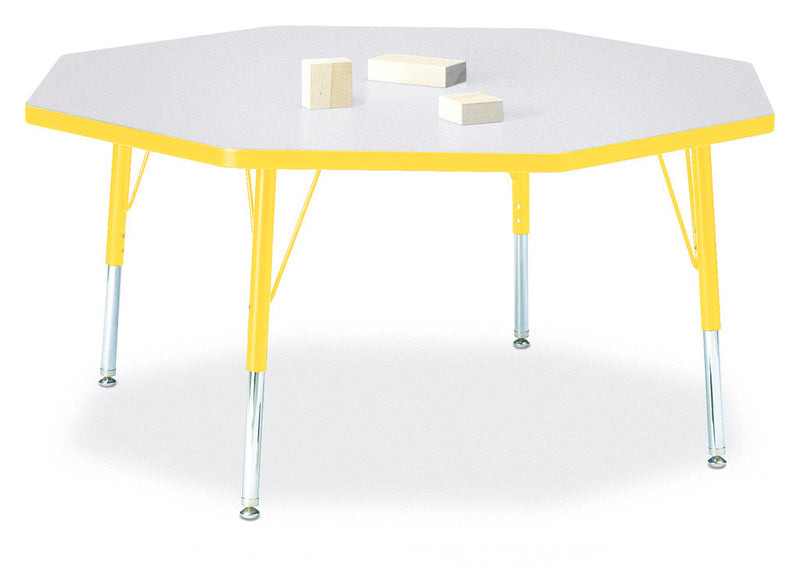 "Berries® Octagon Activity Table - 48"" X 48"", T-height"