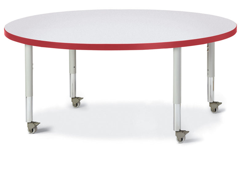 "Berries® Round Activity Table - 48"" Diameter, Mobile"