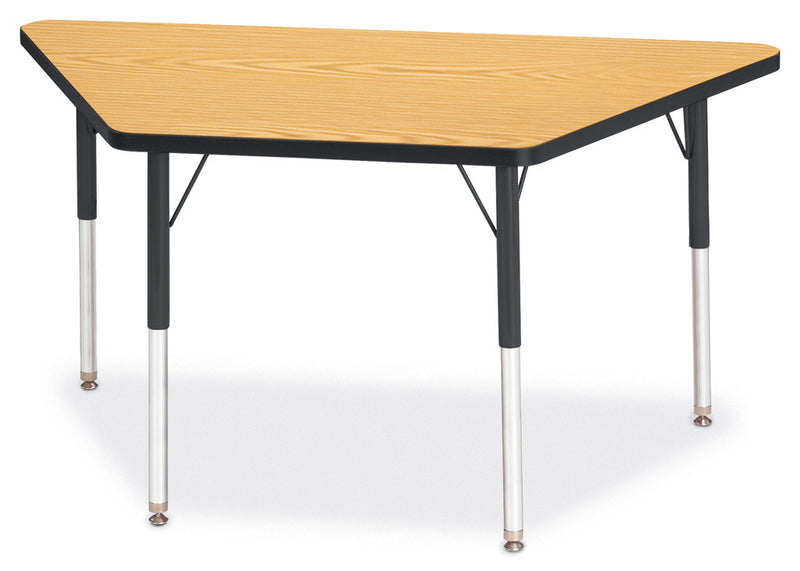 "Berries® Trapezoid Activity Tables - 24"" X 48"", A-height by Jonti-Craft"