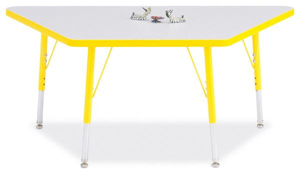 "Berries® Trapezoid Activity Tables - 24"" X 48"", T-height"