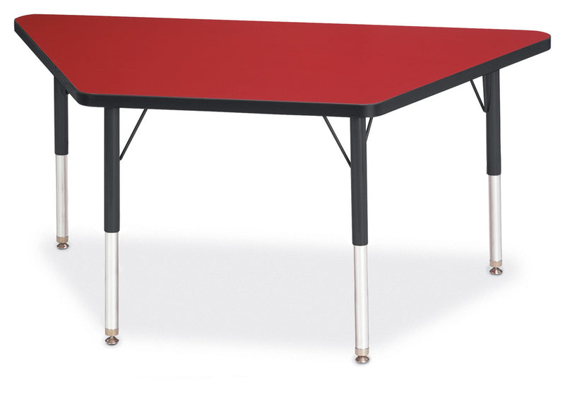 "Berries® Trapezoid Activity Tables - 24"" X 48"", E-height"