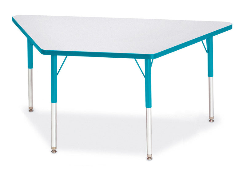 "Berries® Trapezoid Activity Tables - 30"" X 60"", A-height"