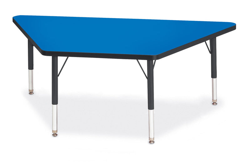 "Berries® Trapezoid Activity Tables - 30"" X 60"", T-height"