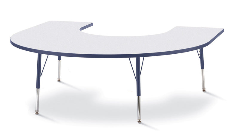 "Berries® Horseshoe Activity Table - 66"" X 60"", A-height"