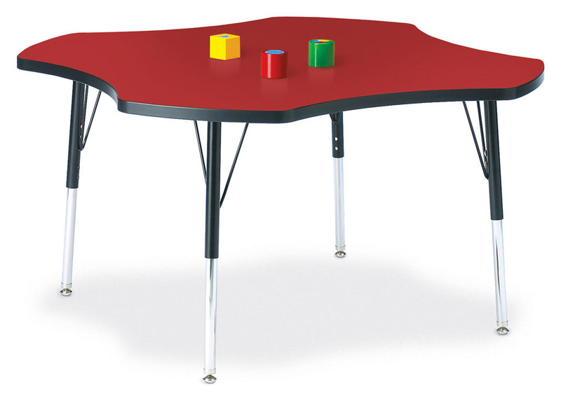 "Berries® Four Leaf Activity Table - 48"", E-height by Jonti-Craft"