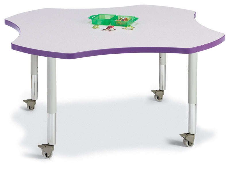 "Berries® Four Leaf Activity Table - 48"", Mobile"