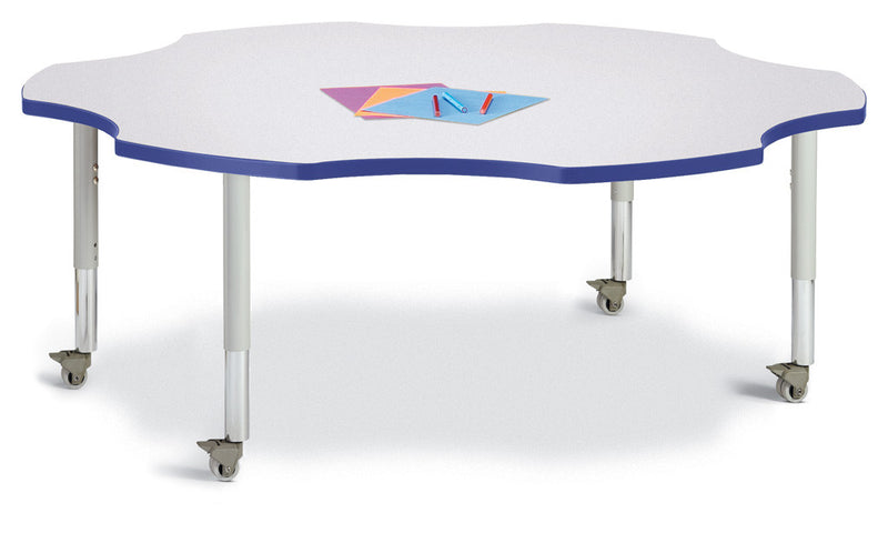 "Berries® Six Leaf Activity Table - 60"", Mobile"