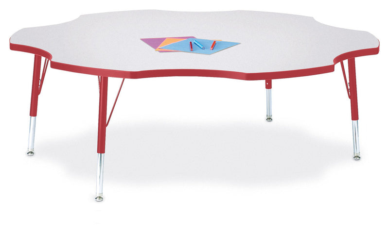 "Berries® Six Leaf Activity Table - 60"", T-height"