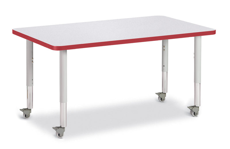 "Berries® Rectangle Activity Table - 30"" X 48"", Mobile"