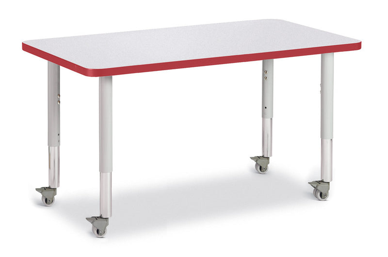 "Berries® Rectangle Activity Table - 24"" X 36"", Mobile"