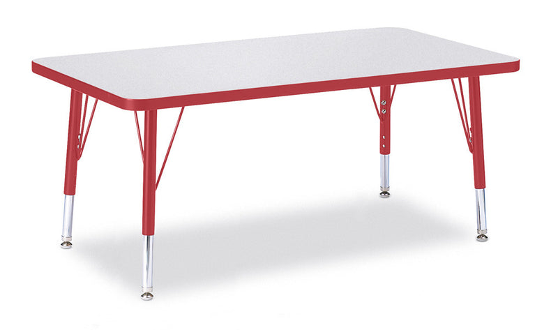 "Berries® Rectangle Activity Table - 24"" X 36"", T-height"