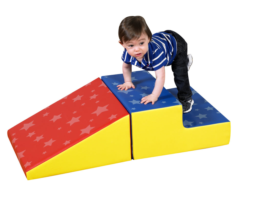 Soft shapes to promote climbing for tots