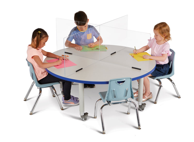 "See-Thru Table Divider Shields- 4 station 47.5""x47.5""x16"""