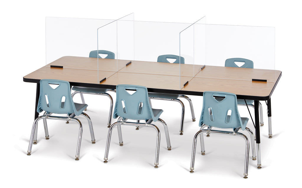 "See-Thru Table Divider 6 station 70.5""x29.5""x16"""
