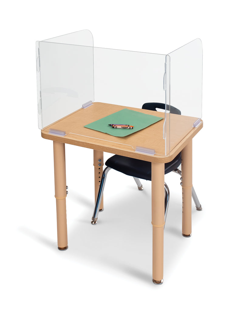 "See-Thru Student Desk Top Shield 16.5"" High"