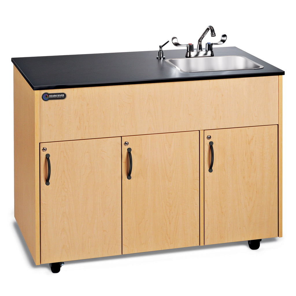 Ozark Advantage Portable Hot Water Sink with Laminate top_Single Deep SS Basin