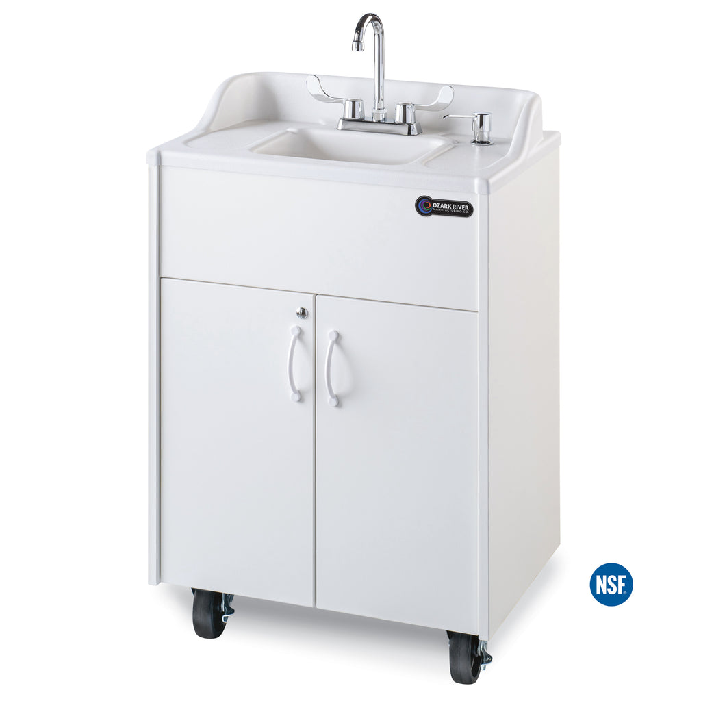 Ozark River Premier Series Portable Hot Water Sink w/ White ABS Basin