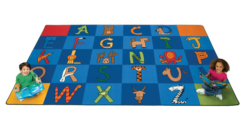 "A to Z Animals Carpets  7'6"" x 12' Rectangle"