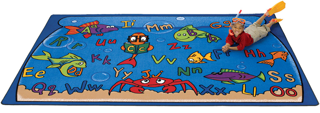 "Alphabet Aquarium Carpets  8'4"" x 11'8"" Rectangle"