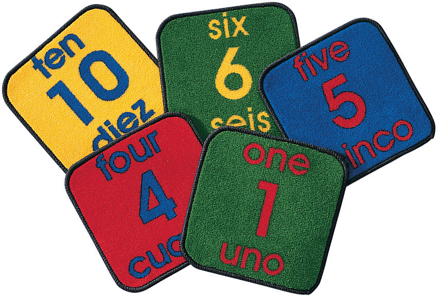 Bilingual Number Squares - Set of 10