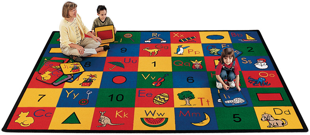 "Blocks of Fun Carpets  8'4"" x 11'8"" Rectangle"