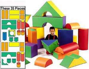 Module Block Sets -Set A and B 35 Pieces