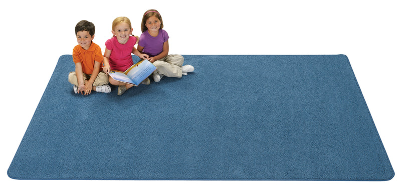 KIDply Solid Color Rectangular Rug 6' x 9'