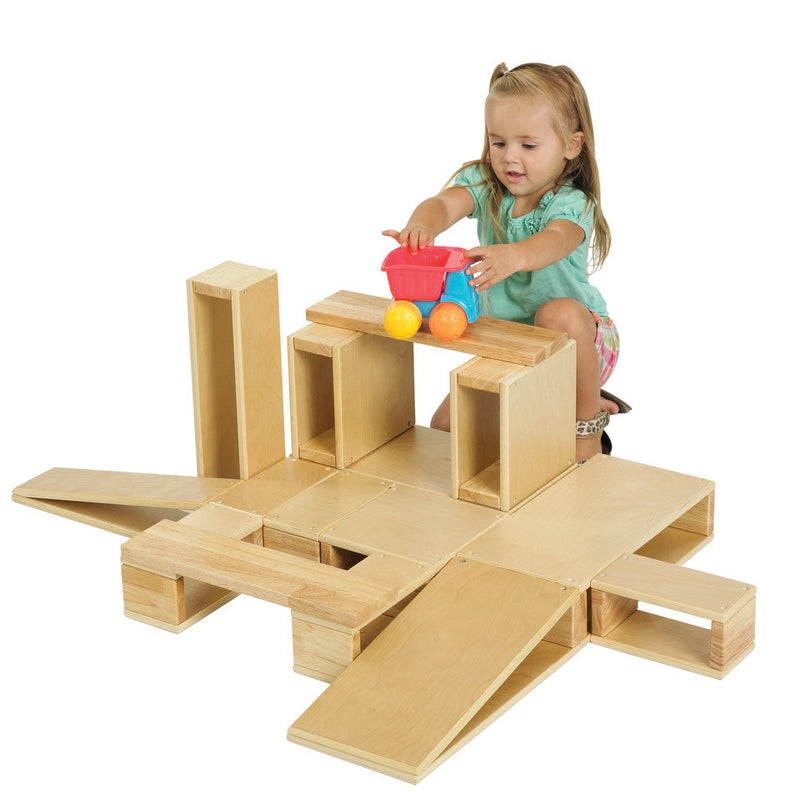 18pc Hollow Wooden Block Set