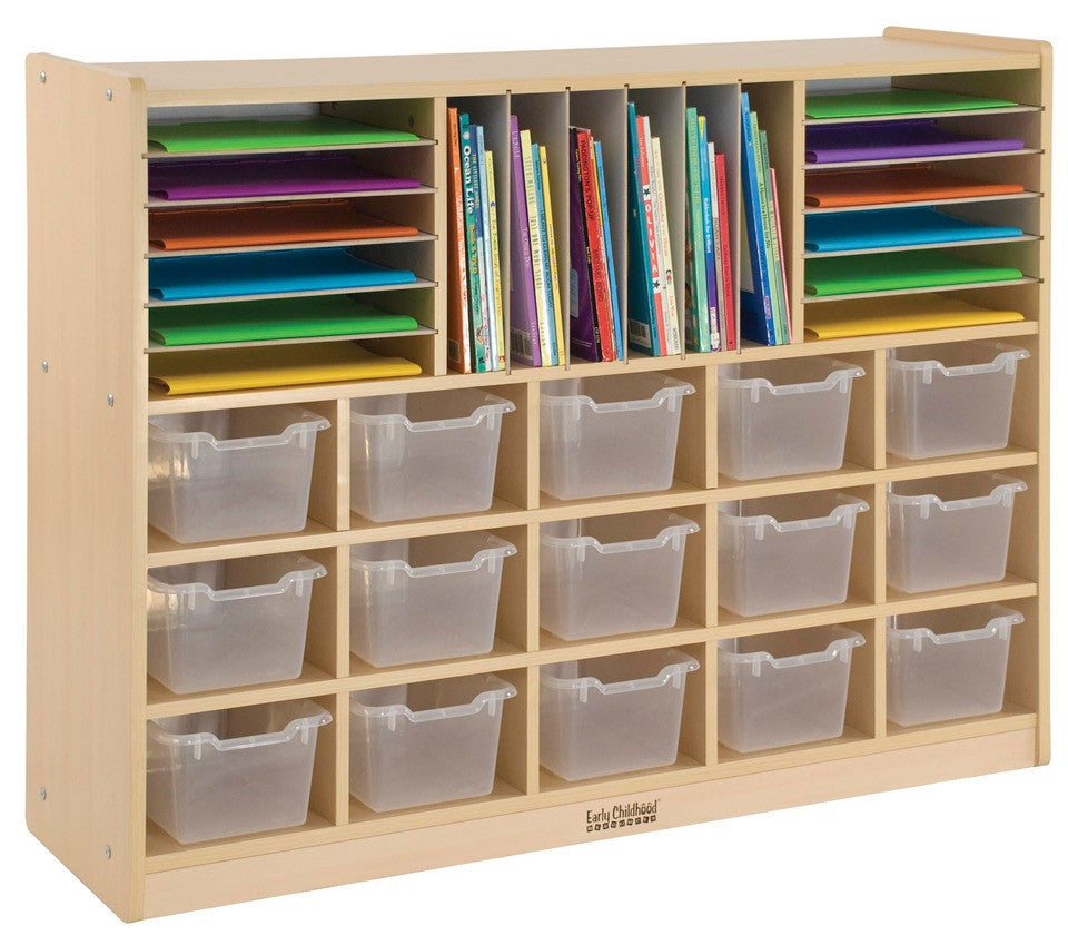 Multi-Section Storage Cabinet w/ 15 Bins - CL