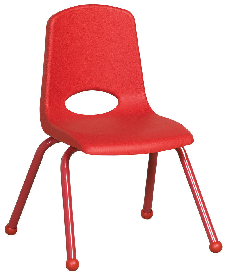 "14"" School Stack Chair w/ Matching Painted Legs- Set of 6"