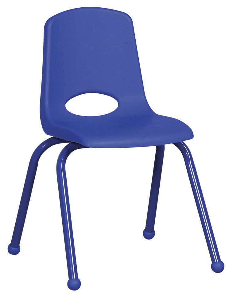 "16"" School Stack Chair w/ Matching Painted Legs- Set of 6"