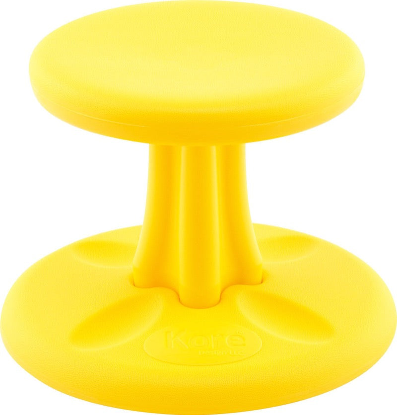 Image of yellow wobble stool active learning stool on kindermark kids