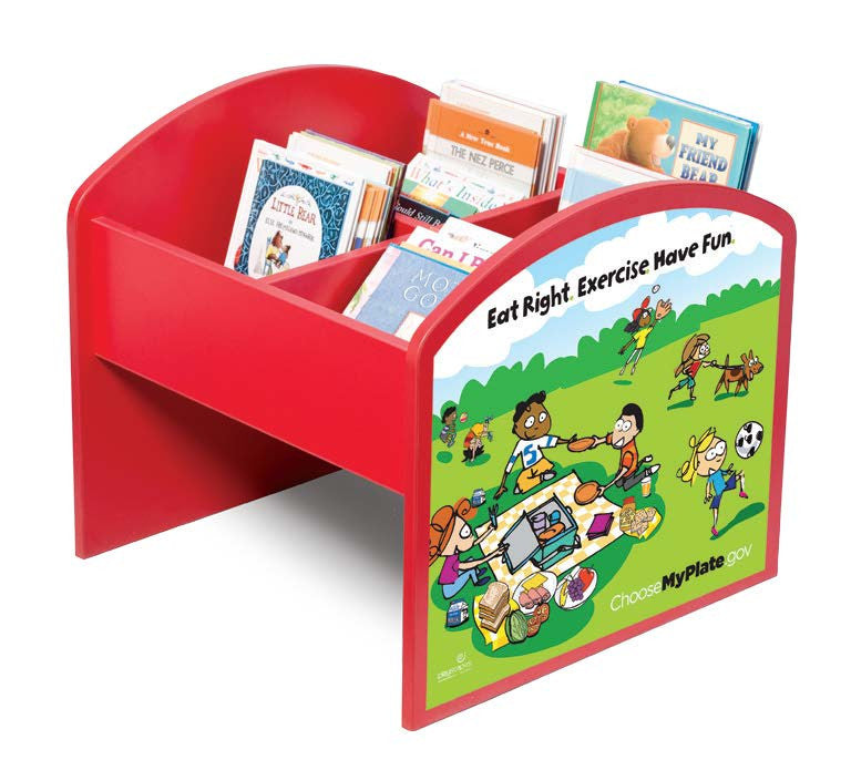 MyPlate Kinderbox Book and Media Storage
