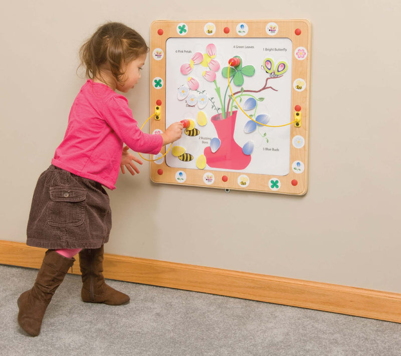 Flower and Bees Magnetic Wall Game