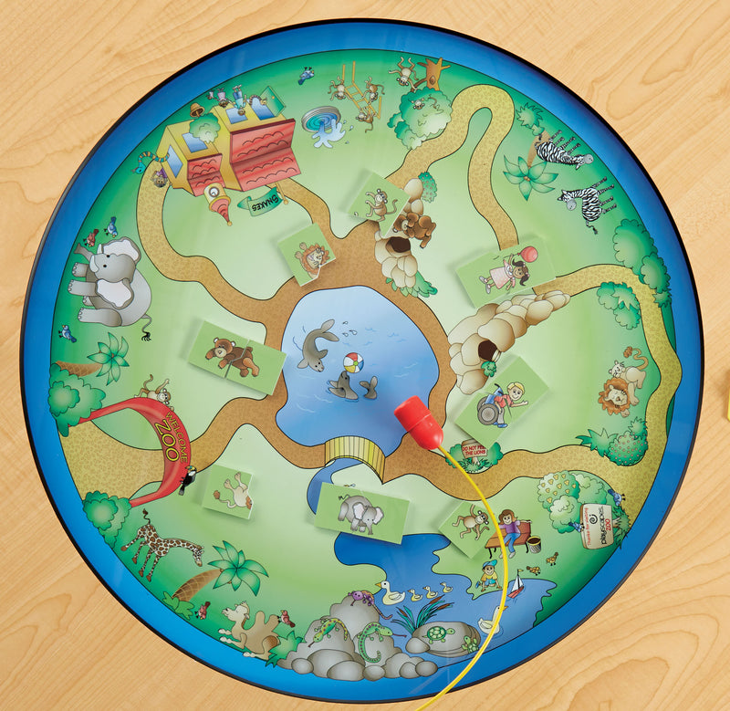 Top down view of SAFARI ADVENTURE TABLE