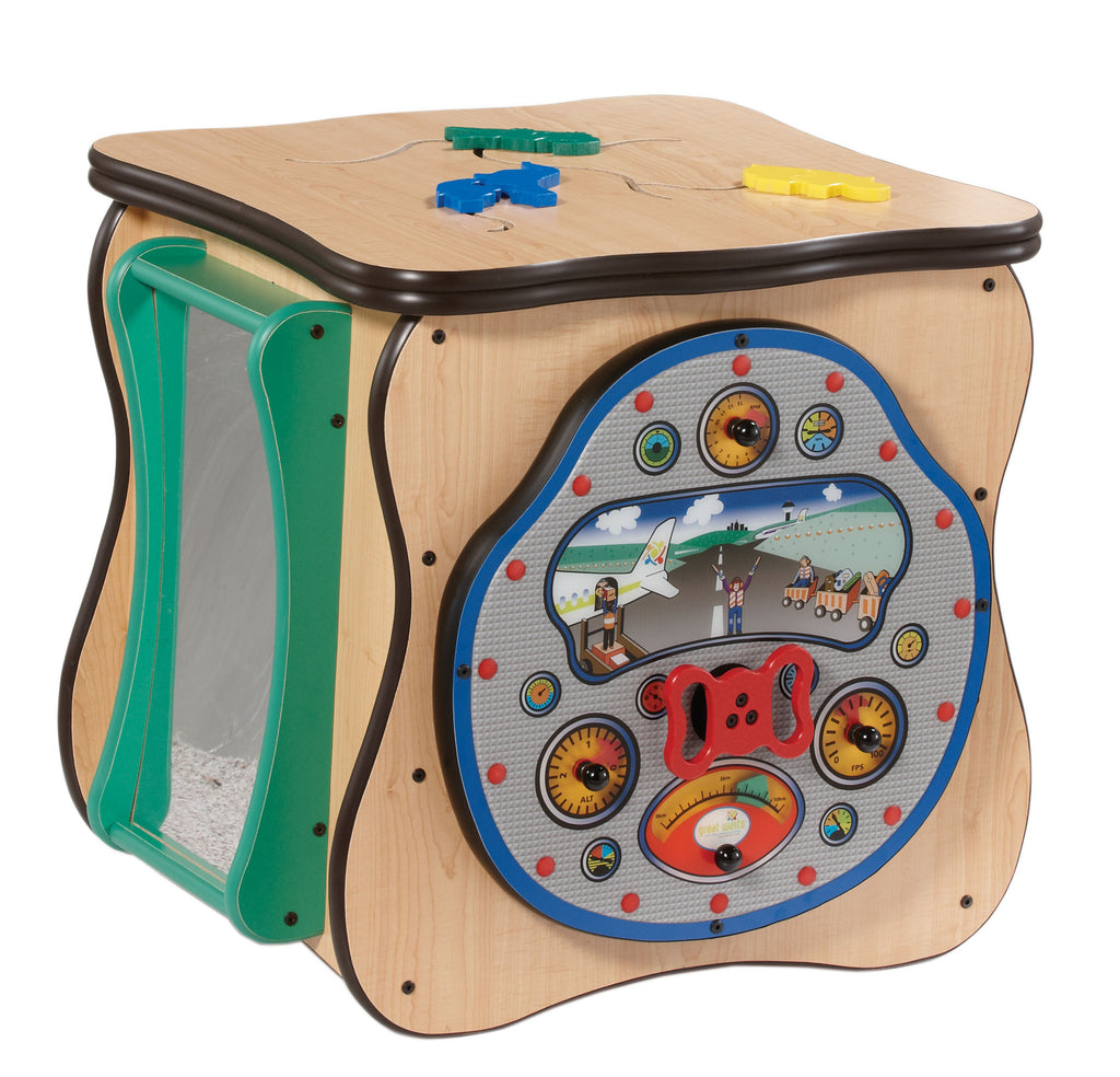 Safari island play cube with 4 panel games