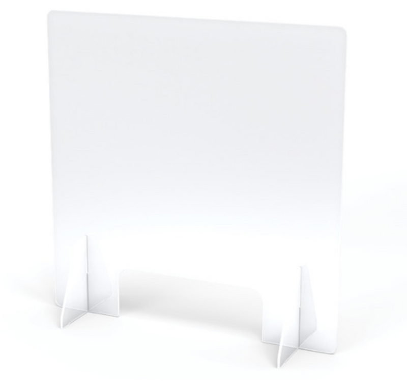 See-Thru Table Divider with Opening- 2 station- 2 sizes
