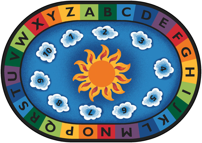 "Sunny Day Learn & Play Carpets  4'5"" x 5'10"" Oval"