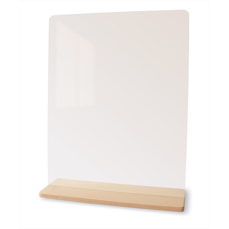"Tabletop Acrylic Partition 18""W Sneeze Guard"
