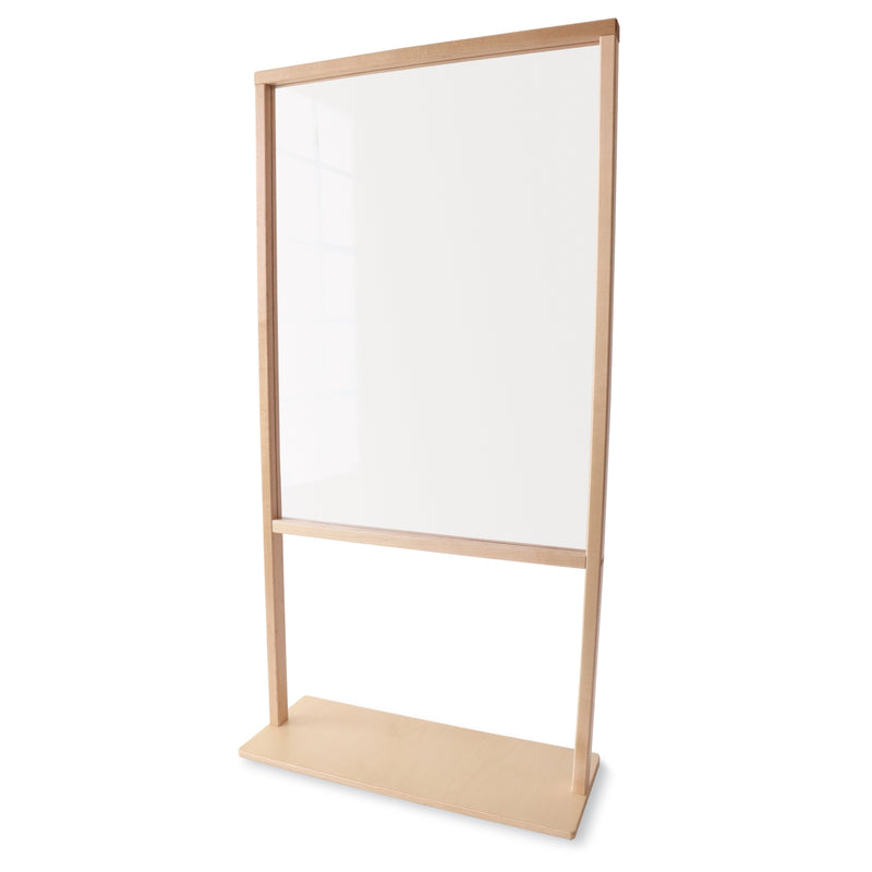 "Floor Standing Acrylic Partition 25""W"