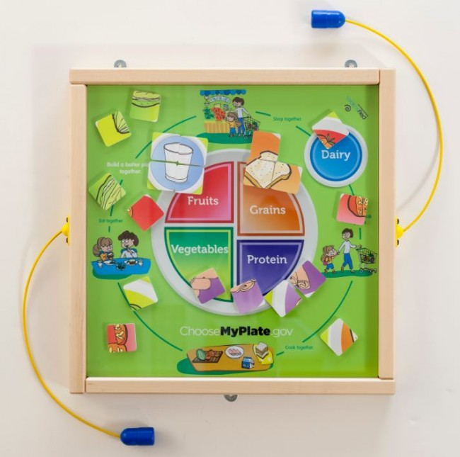 MyPlate Magnetic Wall Toy Shows Food Groups and Healthy Choices