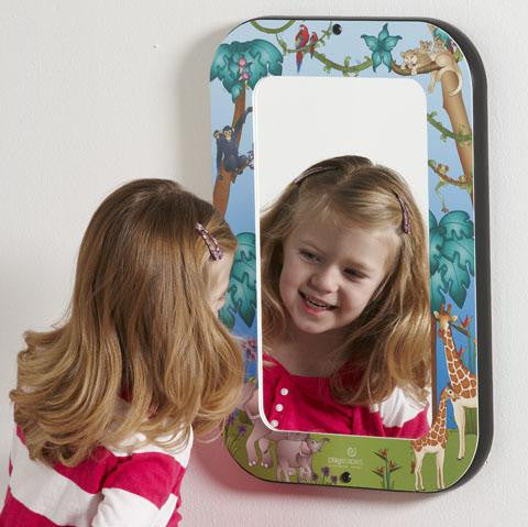 Mirror with animal themed frame