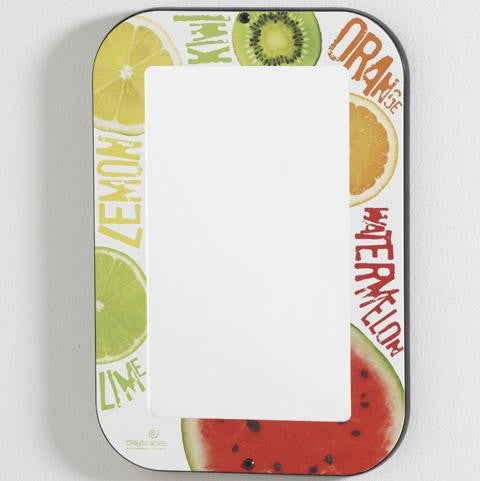 MIRROR WITH FRUIT THEMED FRAME