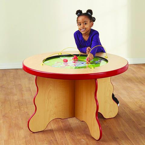 MyPlate Child Height Magnetic Play Table Shows Food Groups and Healthy Choices