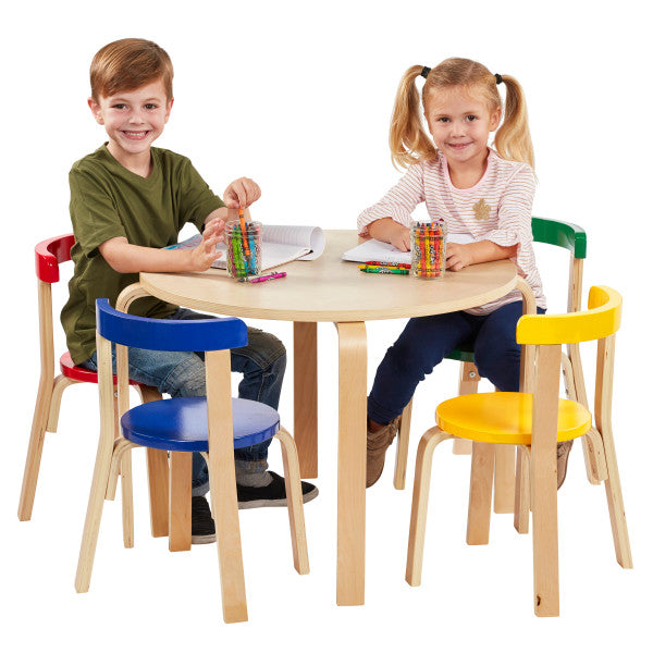 Bentwood Table Curved Back Table and Chair Set-Assorted