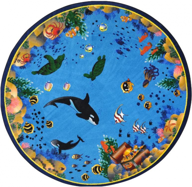 Seascape Round Carpet